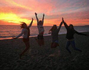 Mit den Mädels am Strand